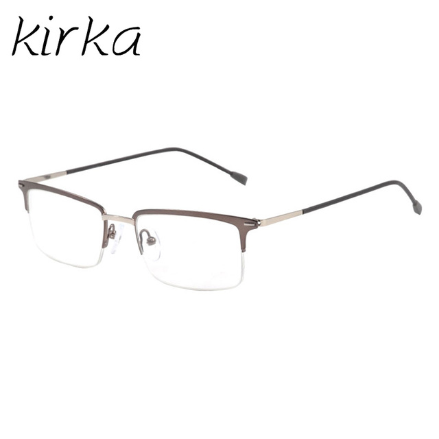 Kirka Half Rim Ultralight Type Stylish Metal Business Style Male ...