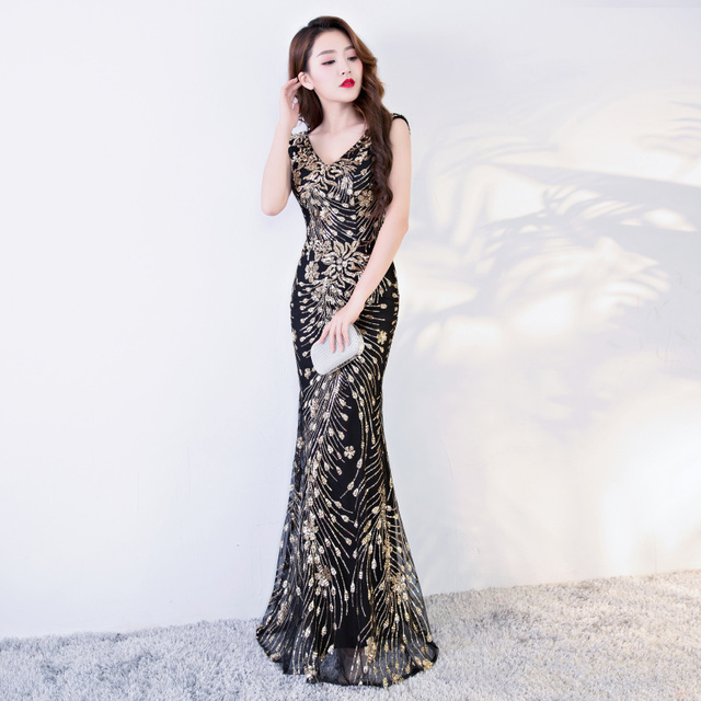 #party #Women #Mermaid #Gold Long #Prom Evening #Dress #grl #fashion #boygrl 2