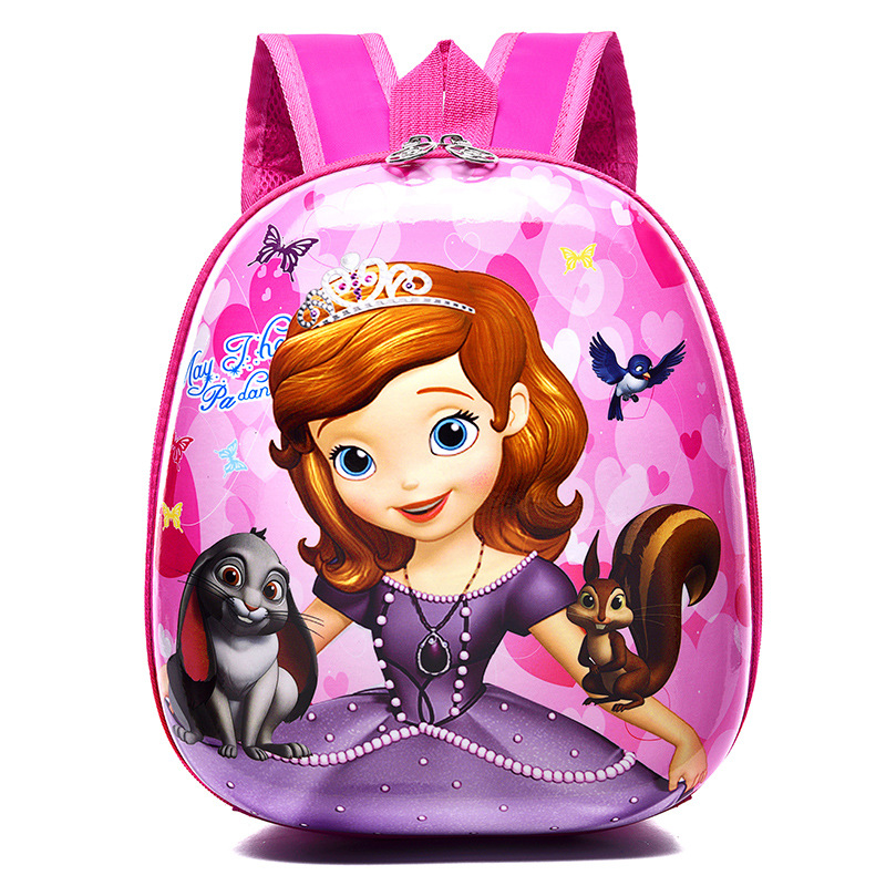 New Cute EVA Elsa Schoolbag Children Backpack Hard Shell Backpack Cartoon Lovely Sofia Shoulder Bag Kids Princess Bags