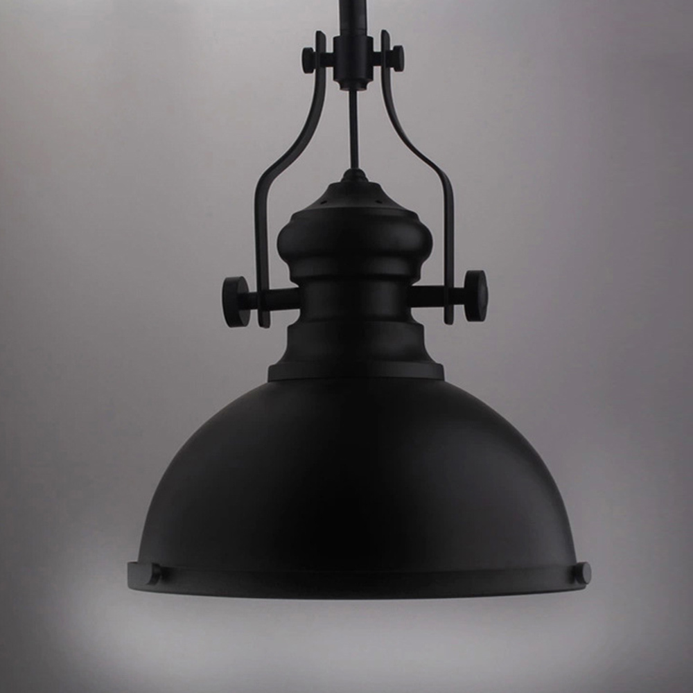 Classic Black Loft America Country Industrial Pendant Light Drop ...