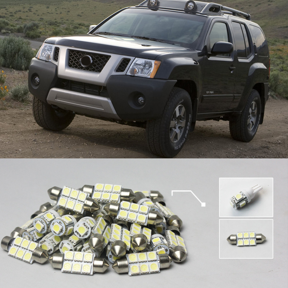 Popular nissan xterra buy cheap nissan xterra lots from china 22 8x white led lights interior package kit for nissan xterra vanachro Image collections