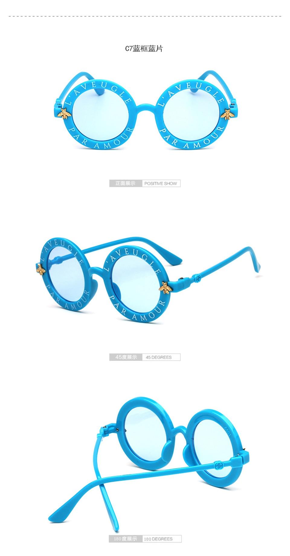 Steampunk Bee Kids Sunglasses Boys Girls Luxury Vintage Children Sunglasses Round Sun Glasses Oculos Feminino Accessories 10