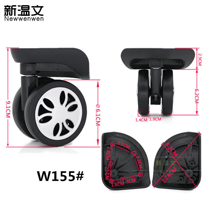 Replacement Luggage Wheels,Repair Trolley wheels for suitcases,Repair Luggage Wheels Parts Accessories W155# replacement luggage wheels oxford suitcase wheels repair replacement wheels for luggage pu leather suitcases wheels w198