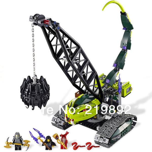 Bela 9761 415 unids 3d diy ladrillos de construcción de plástico conjuntos de bloques de construcción ninjago fangpyre wrecking ball educativos juguetes para niños