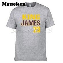 Men King LeBron James 23 Los Angeles T-shirt Clothes Lakers Short Sleeve T SHIRT Men's Fashion W0218006