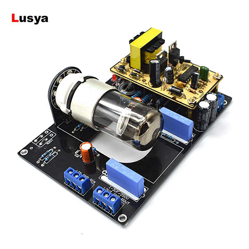 Tube Pre-Amplifier HiFi Amp Board 6N8P(6H8C 6SN7) Car Audio DC12V Vacuum Tube Pre Amplifier Preamp Board B1-005