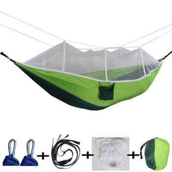 hammock ultralight parachute hammock hunting mosquito net double lifting outdoor furniture hammock - DISCOUNT ITEM  29% OFF All Category