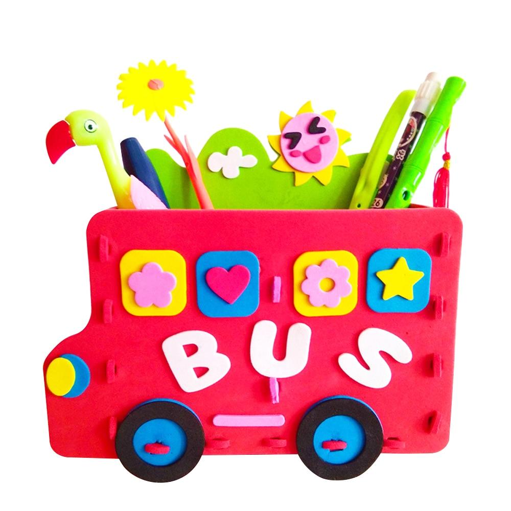 Eva Ouder Kind Activiteiten Diy Potlood Houder Creatieve 3d Puzzletoys Handgemaakte Pen Container Leuke Vroege Educatief