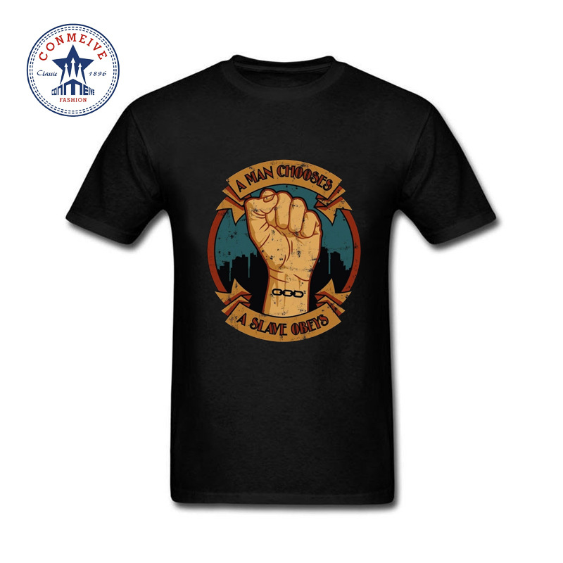 2017 New Fashion Funny Video games BioShock Shooting Game Cotton Funny t shirt for men