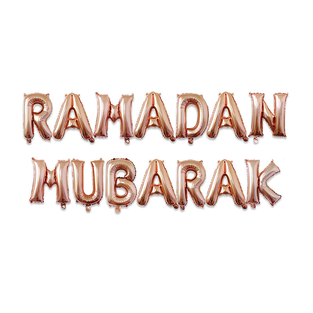 Haochu 16 Inci Ramadan Dekorasi Eid Mubarak Film Aluminium Balon Bulan Bintang Perak Emas Huruf Sesuai Dengan Dinding Untuk Muslim Ballons Aksesoris Aliexpress