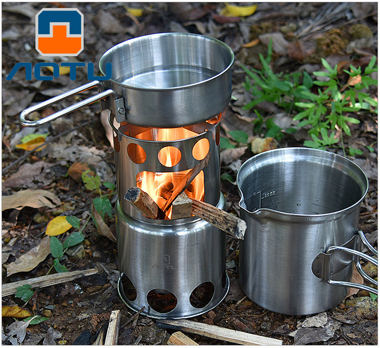 Outdoor wood Stove Camping burner Folding Electronic Stove hiking Portable Foldable Split Stoves Furnace Cooking Picnic
