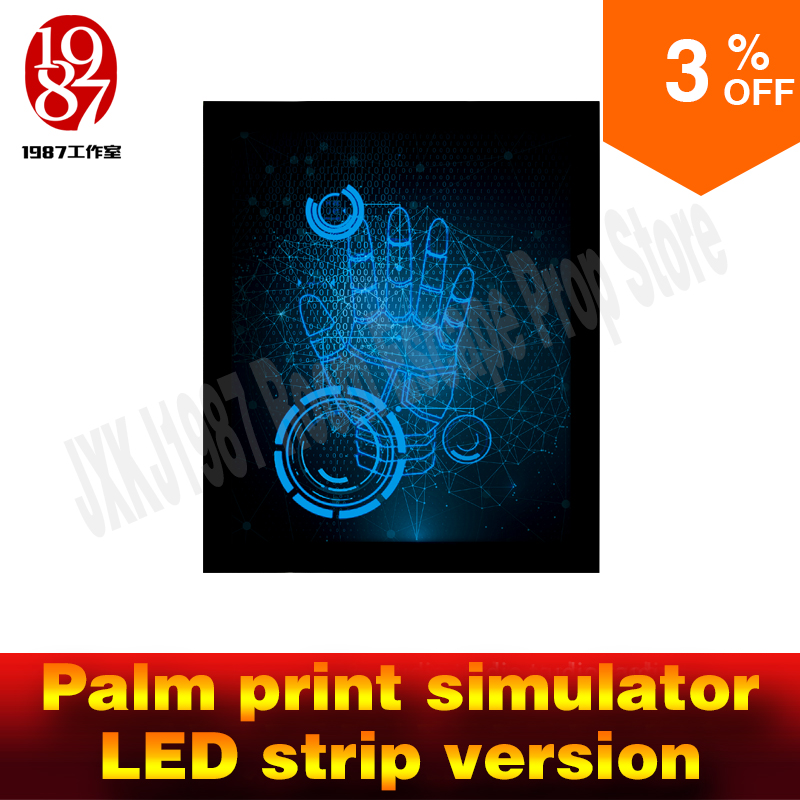 Room escape props Palm print simulator led strip version put IC card to activated the simulator to unlock from JXKJ1987 chamber palm print cami dress