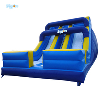 High Quality Outdoor Blue Inflatable Games Jumping Castle Slides For Sale