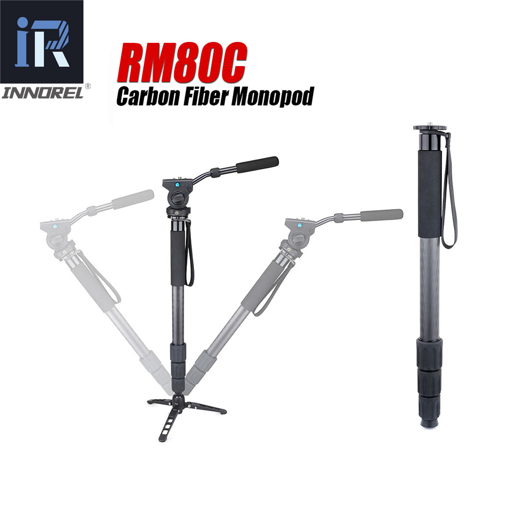 RM80C 8KG bear carbon fiber professional camera monopod compact DSLR stand for Canon Nikon portable video monopod fluid head цена