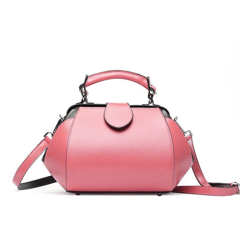 2018 New Designer Luxury Shoulder Bag Doctor Style Bag Two Straps Lady's Handbag Satchel Bag Europe Fashion Lovely Style fashion style