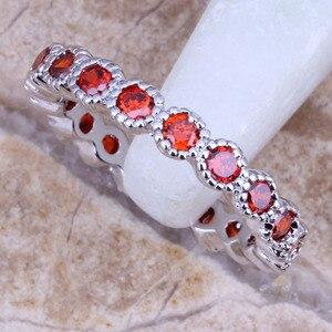 Fantastic Red Garnet Silver Pl