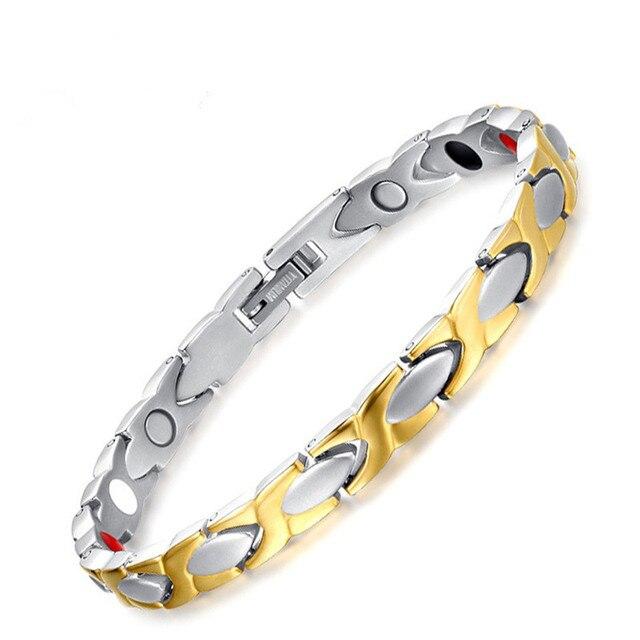 Best selling Women / Men's jewelry stainless steel bracelet magnetic titanium steel health bracelet 020 bracelet fatigue