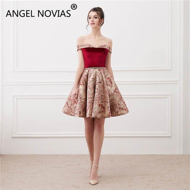 4f409426e placeholder Angel Novias Sexy Burgundy Short Abiti Da Cocktail Dress 2019  Lace Up Prom Gown Vestidos De