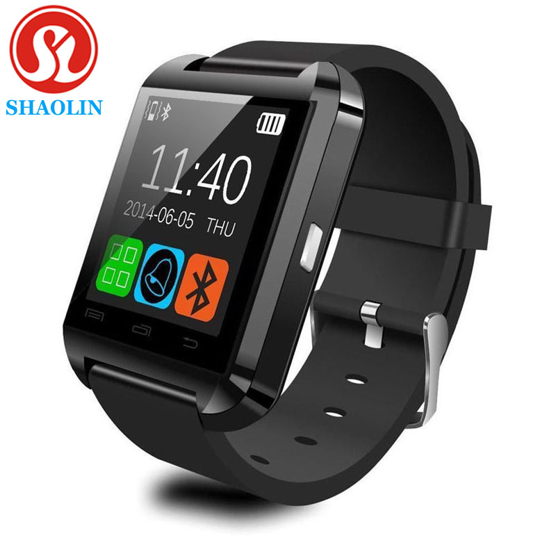 imágenes para Shaolin bluetooth smart watch smartwatch u reloj para ios iphone samsung sony huawei xiaomi android teléfonos bueno como gt08 dz09