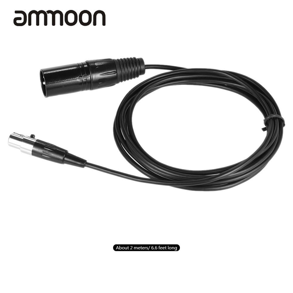 2m   6 6ft Male To Mini Female Xlr Cable For Microphone