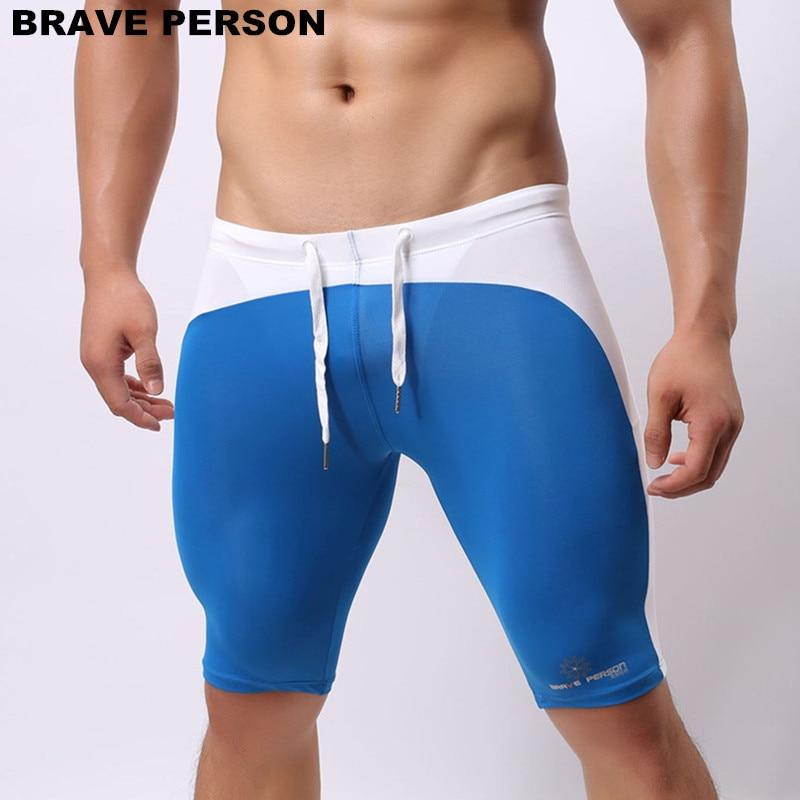 Brave Person Men's Beach Wear Multifunctional Shorts Soft Nylon Fabric Knee-length Tights Trunks Shorts Men Board Shorts