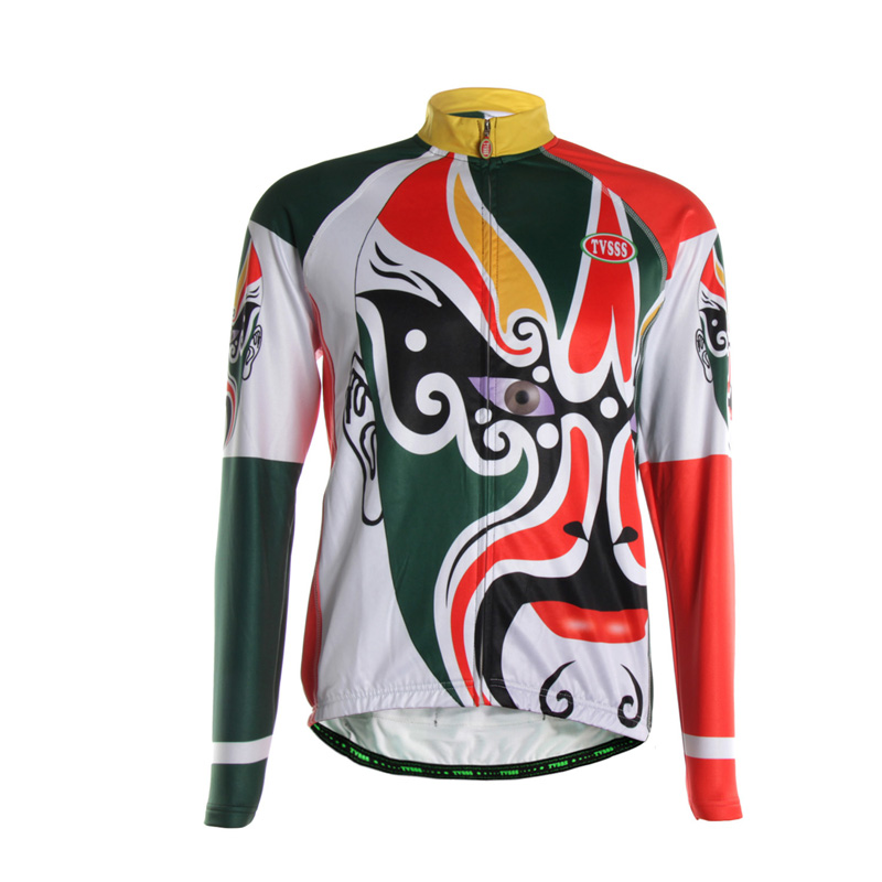 TVSSS Chinese Art Deformation Mask Style Special Design Men s Summer Bicycle Jersey Face pattern Cycling