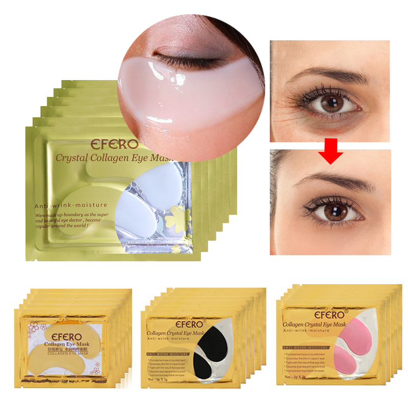 10/15pair=20/30PC Eye Mask For Face Mask Crystal Eyelid Patch Anti-Wrinkle Crystal Collagen Eye Masks Remove Black Eye Skin Care