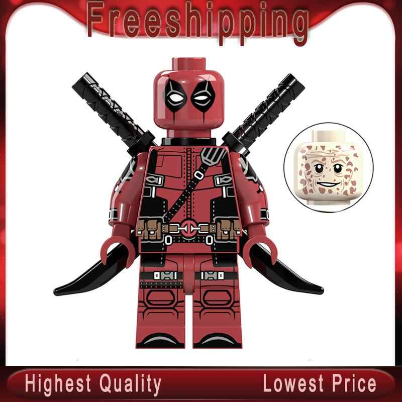 DR. TONG Super Heroes Deadpool 2 X-Men Action Figure Building Blocks Marvel Antiheroes ของเล่นเด็ก XP028
