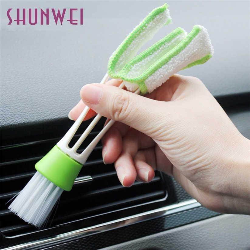 Авто-Стайлинг SHUNWEI автомобиля для чистки клавиатуры моечная машина Limpeza Automotiva принадлежности для клавиатуры Универсальный вентиляционное отверстие, устанавливаемое на вентиляционное отверстие в салоне автомобиля brush_1.8