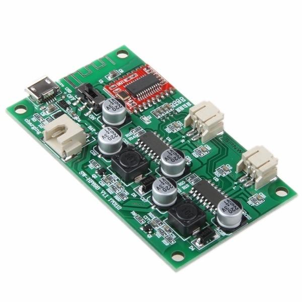 HF69B 6 Вт + 6 Вт двухканальный стерео Bluetooth Динамик Усилитель доска Мощность литиевых Батарея с Мощность зарядки управления