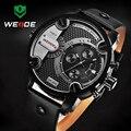 WEIDE Relógio Do Esporte Marca de Luxo Relógios Para Homens Analógico Exército Esporte Militar Homens Relógio de Pulso Pulseira de Couro À Prova D' Água hombre