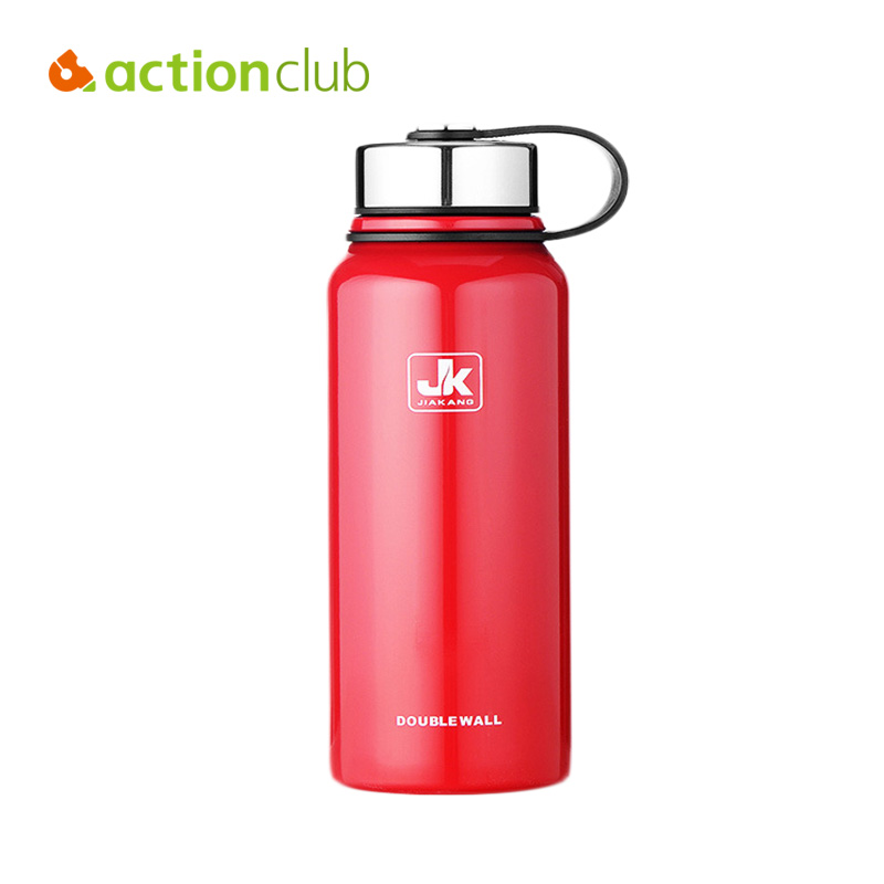 Actionclub Stainless Steel Vacuum Kettle Easy Carry Stainless Steel Bottle For Adult Large Capacity Hot Water