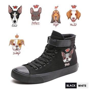 Divertida Tacón Zapatos Ilustración Impresión De Alto Perro WDIbeYH9E2