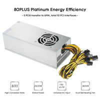 2400W Switching Server Power Supply 90 Mining Machine Power Source For Ethereum S9 S7 L3 Rig