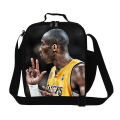 Personalized Kobe print thermal lunch bag for men work,boys cool lunch container,James stylish insulated lunch bag for adult