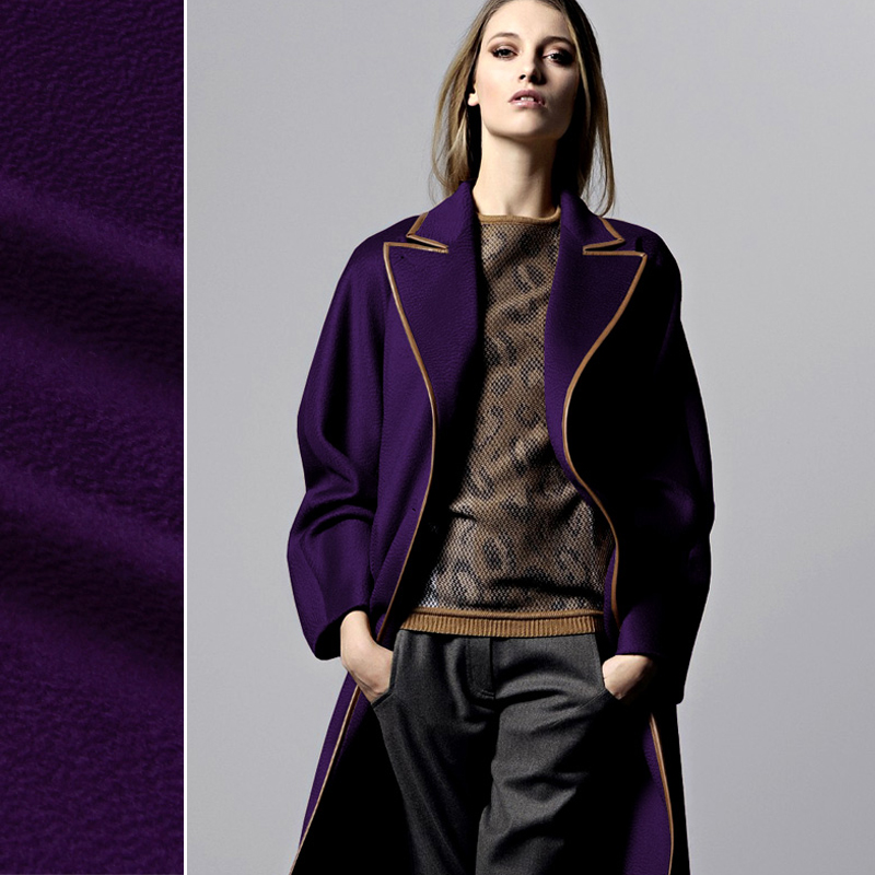 purple cashmere autumn and winter overcoat clothes wool ...
