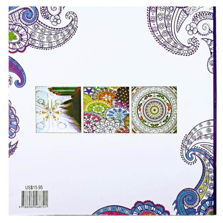 Aliexpress Buy 1 PC Zen Mandalas Coloring Books 128 Pages 21cm21cm Relieve Stress Graffiti Painting Drawing Secret Garden Art Colouring From