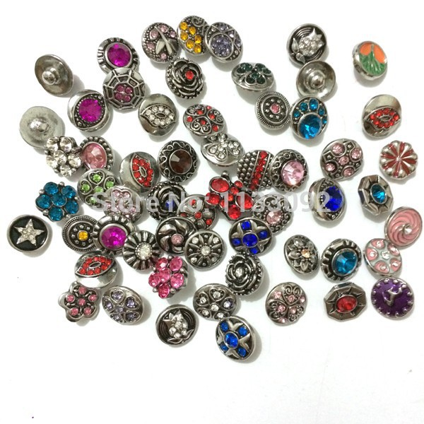 new 12mm small button 10pcs lot new whole sale mix styles colors interchangeable watches snap watch button jewelry in Chain Link Bracelets from Jewelry Accessories