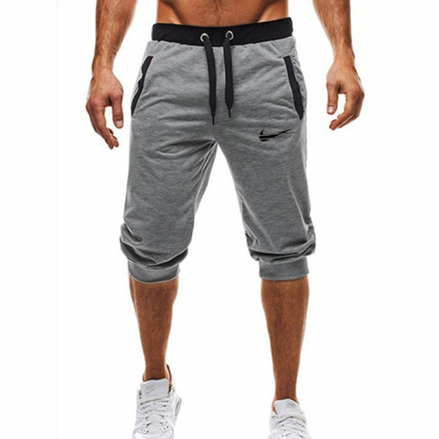 code promo 89658 3d9ed US $8.11 39% OFF|2019 GYM WINER Fitness short jogging casual workout  clothes men's shorts summer new fashion men's casual men's knee long  shorts-in ...