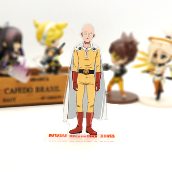 Love Thank You One-Punch Man Saitama acrylic stand figure model plate holder cake topper anime 1