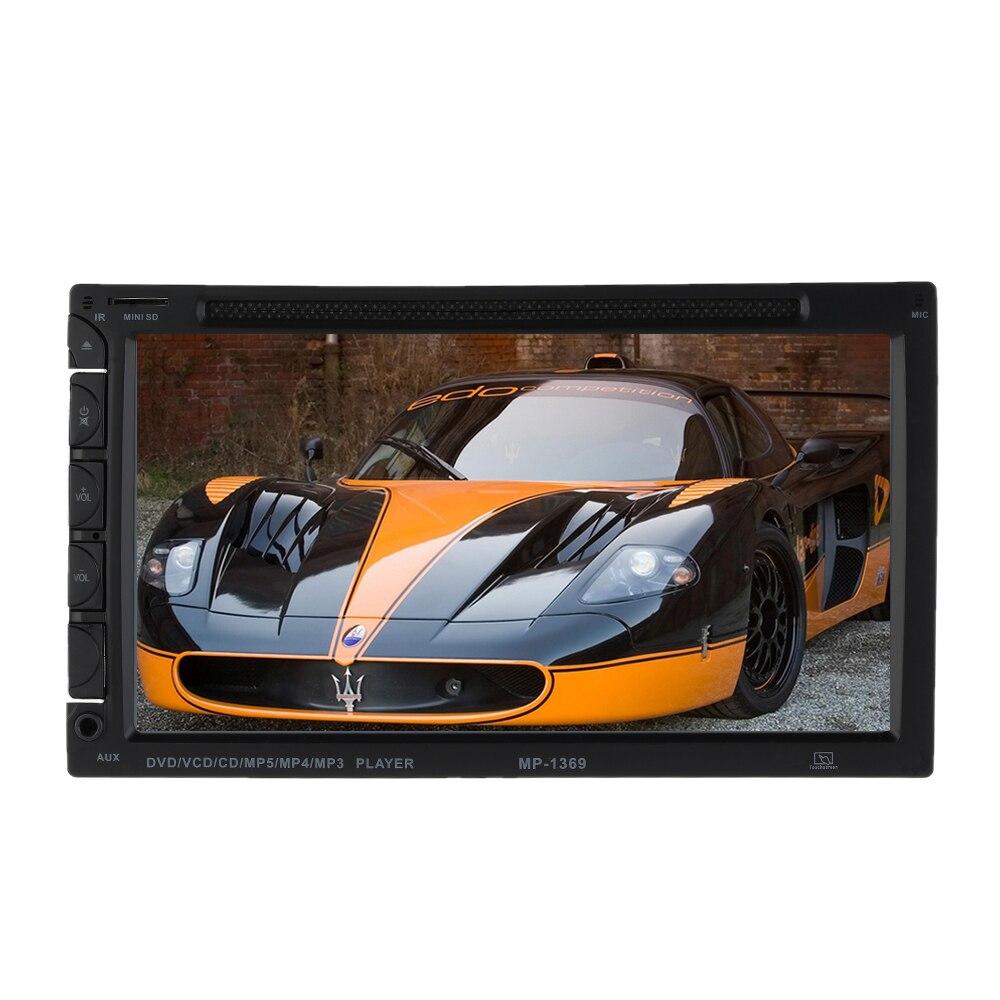 AutoRadio DVD Player 7 inch In-dash Stereo Video 2 din DVD/USB/SD/MP4 Player RDS UI Bluetooth FM/AM radio car  for Nissan Toyota автомобильный dvd плеер joyous kd 7 800 480 2 din 4 4 gps navi toyota rav4 4 4 dvd dual core rds wifi 3g