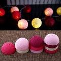 Algodón 10 Bola de Hadas de navidad LED 1.8 M Luz de la Secuencia Del Partido Al Aire Libre de Interior Decoración Blanco + Rosa Oscuro + Regalos * Iluminación de vacaciones