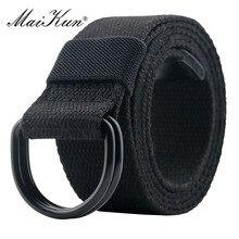 Maikun мужской ремень тактический унисекс пояс из холста с Двойной кольцевой металлической пряжкой повседневные и спортивные ремни для мужчин для джинсов