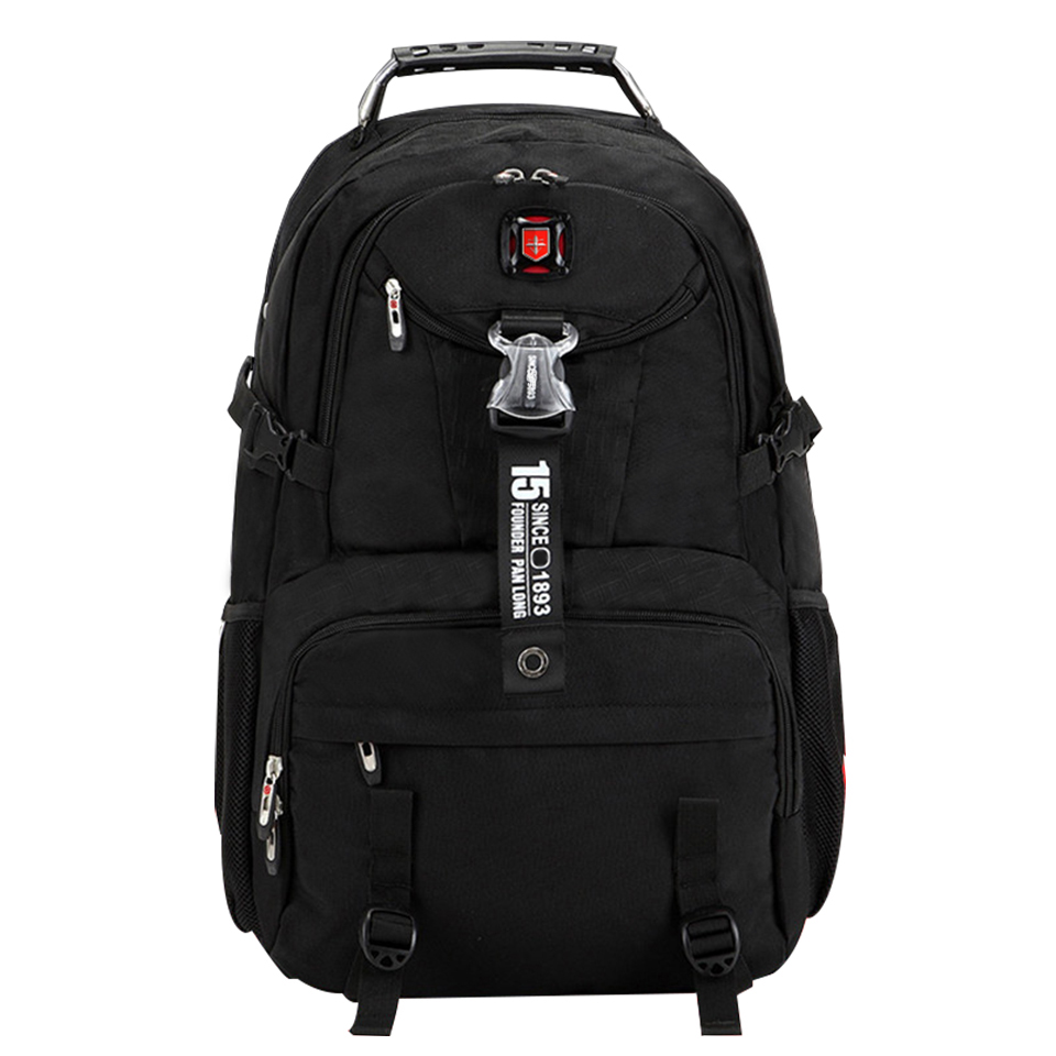 Brand Waterproof oxford Swiss Backpack Men 18 inch Laptop bag Large capacity Business travel backpack Fashion