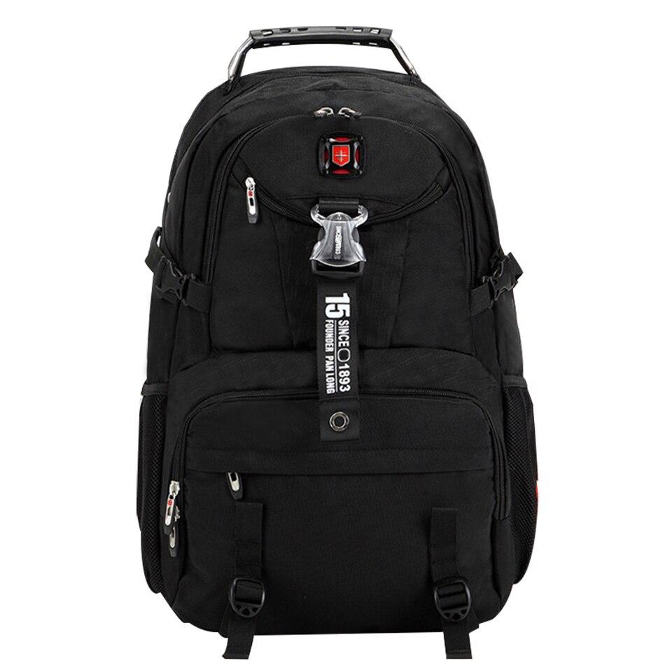 Us 45 05 15 Off Brand Waterproof Oxford Swiss Backpack Men 18 Inch Laptop Bag Large Capacity Business Travel Fashion School Mochila In