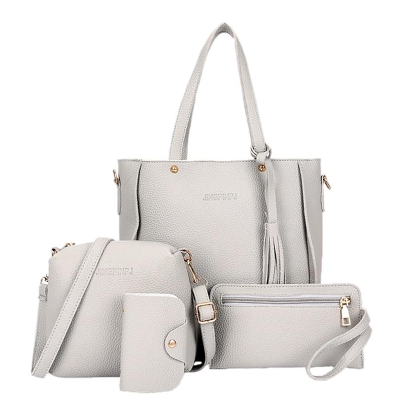 Luggage & Bags Considerate 4pcs Women Lady Fashion Handbag Shoulder Bags Tote Purse Messenger Satchel Set