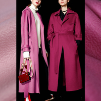 См 480 см шириной 153 г/м вес воды волна сплошной цвет шерсть кашемир ткань для осенне зимнее платье пальто куртка DE909