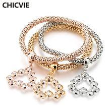 Chicvie ювелирное изделие в виде сердца 3 шт/компл брендовый