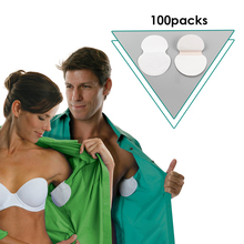 200PCS(100 Packs) Summer Armpit Sweat Pads Disposable Absorbing Anti Perspiration Cotton Patch Underarm Deodorants Stickers