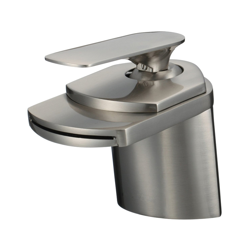 High Quality 100% Copper Rushed Square Single Lever Chrome Brushed Nickel Lavatory Bathroom Mixer Tap Waterfall Basin Faucet chongqing quality 100% copper winding rotor